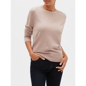 Banana Republic Forever Scallop Neck Sweater Pink